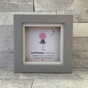 Good Friends Are Like Stars Mini Frame