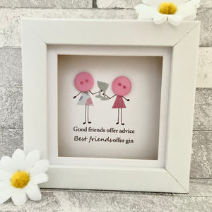 Good Friends Offer Advice Mini Frame