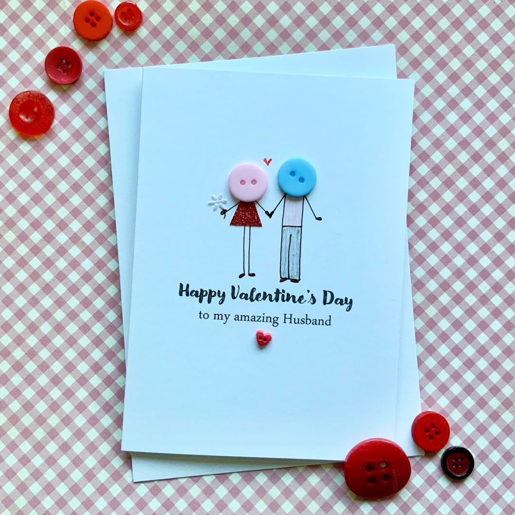 Happy Valentine's Day Amazing Husband Card