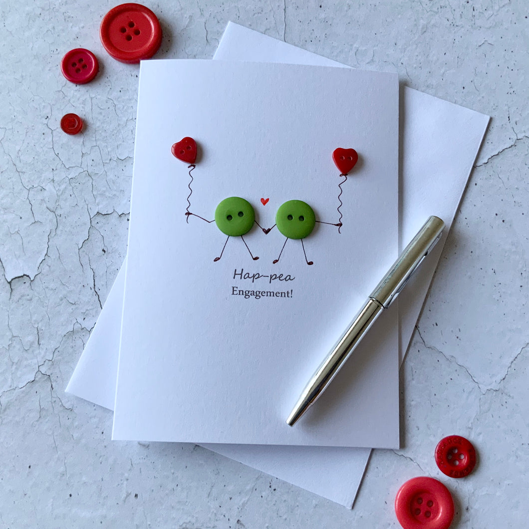 Hap-pea Engagement Card