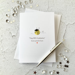 Hap-Bee Graduation Card