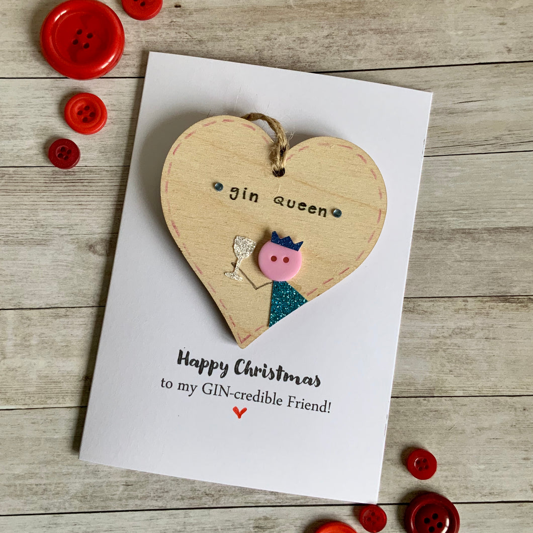 My GIN-credible Friend Christmas Card