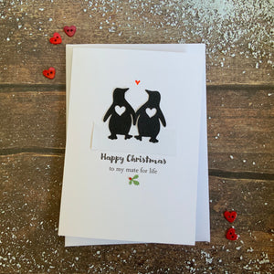 Happy Christmas Mate For Life Card