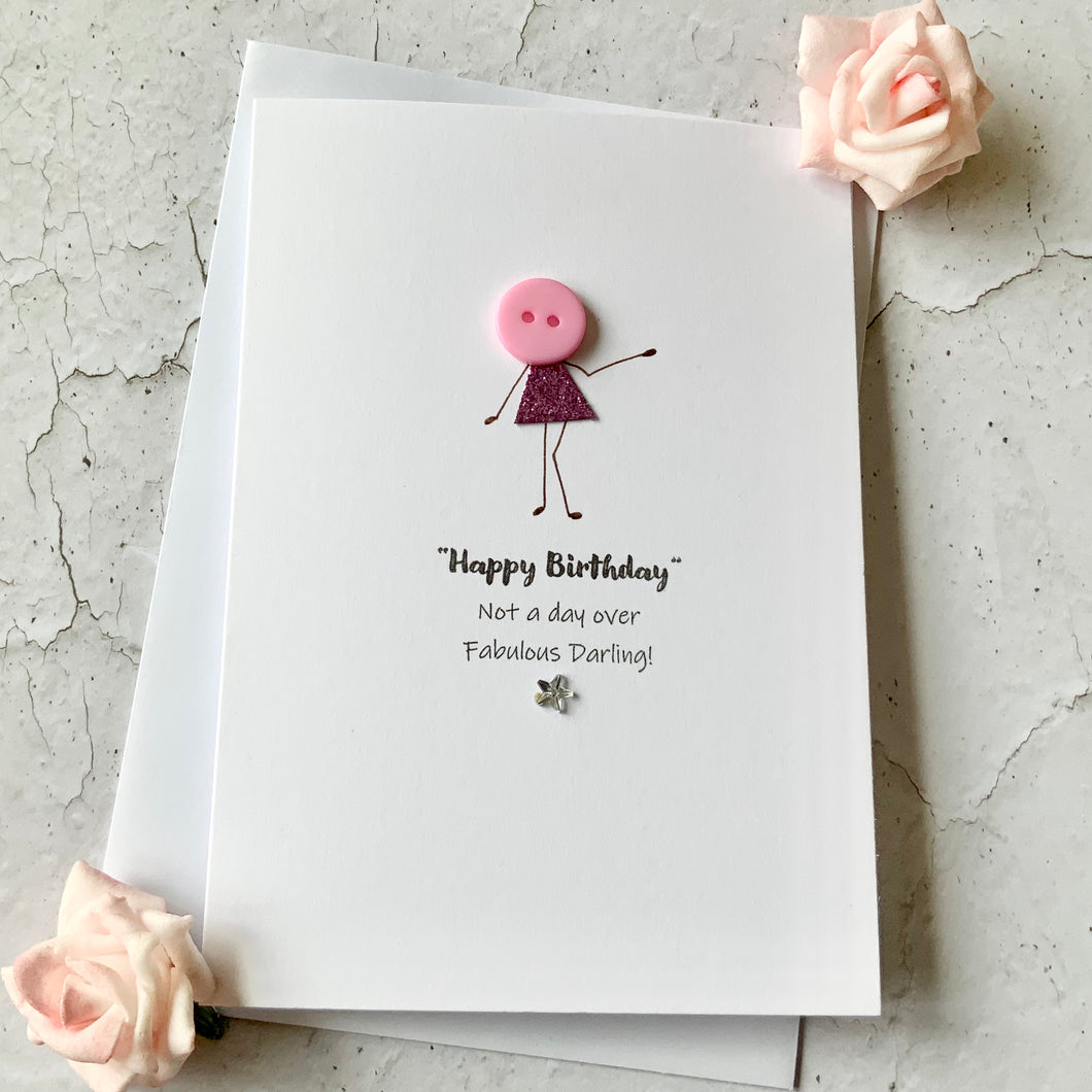 Happy Birthday Fabulous Darling Card