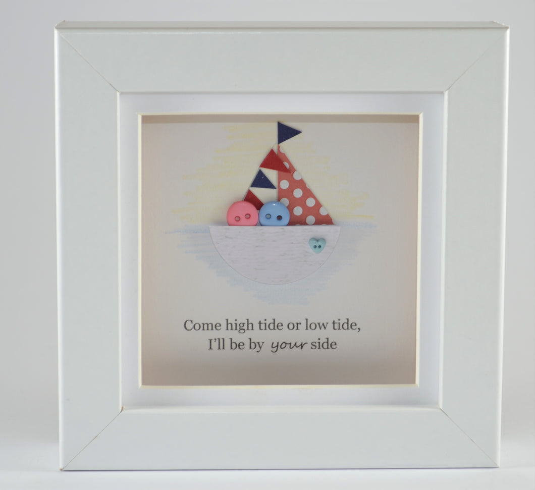 Come High Tide or Low Tide Mini Frame