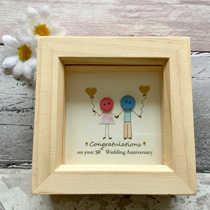 Congratulations On Your 50th Wedding Anniversary Mini Frame