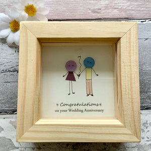 Congratulations On Your Wedding Anniversary Mini Frame