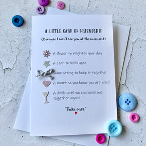 Little Card Of Friendship- Personalised