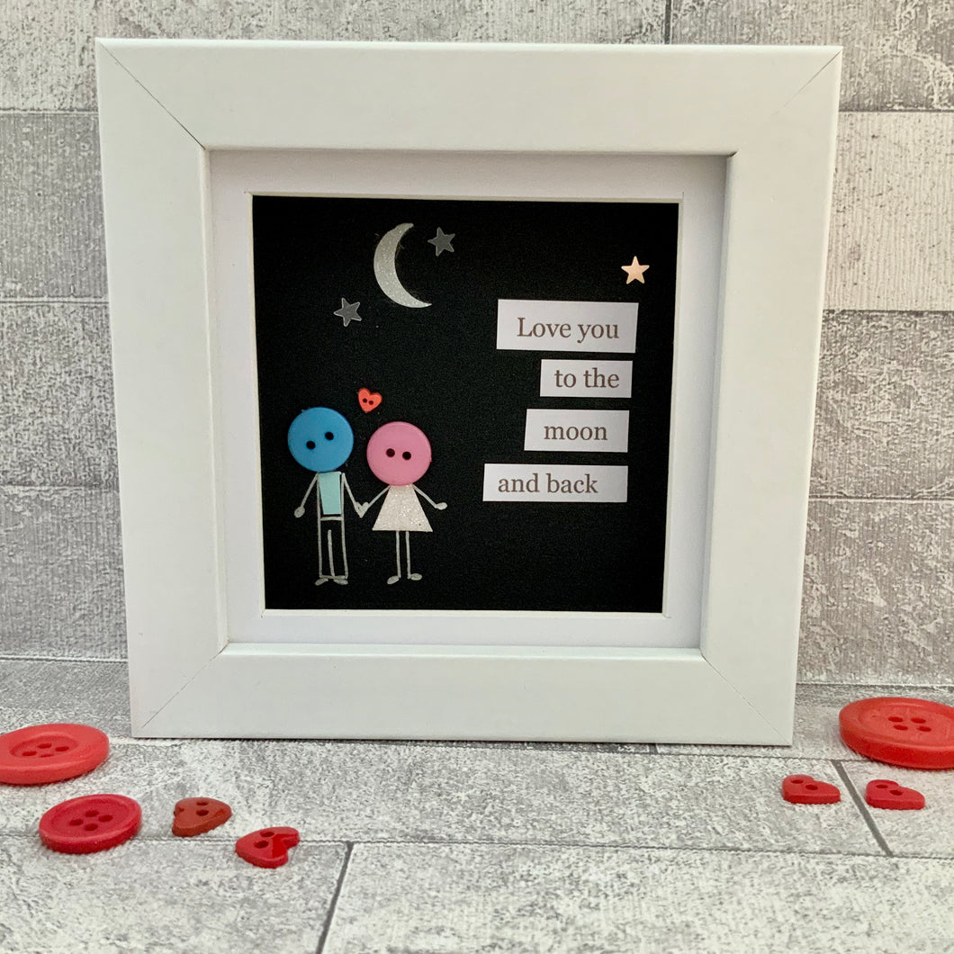Love You To The Moon & Back Mini Frame