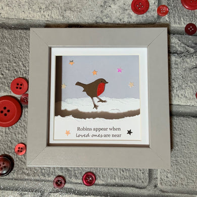 Robin Christmas Mini Frame