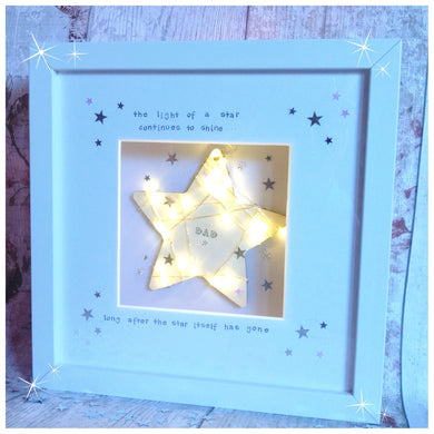 Memory Star Light up Frame