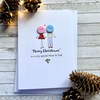 Happy Christmas To A Special Mum & Dad Card