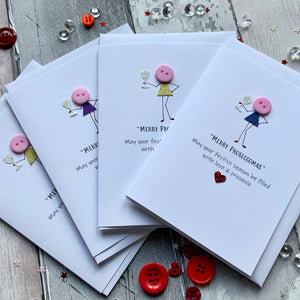 Merry Proseccomas Christmas Pack of Four Christmas Cards