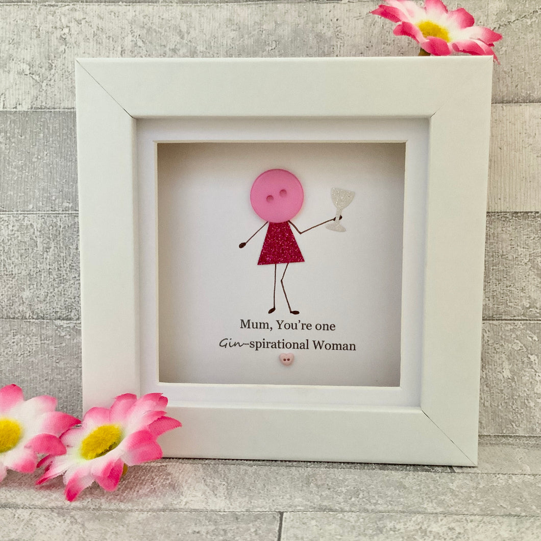 Mum, You're One GINspirational Woman Mini Frame