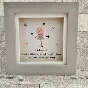 If A Star Fell Mum Mini Frame