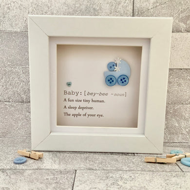 New Baby Boy Definition Mini Frame