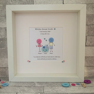 New Baby Button Family Frame