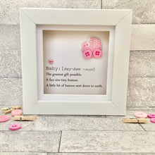 Load image into Gallery viewer, New Baby Girl Definition Mini Frame