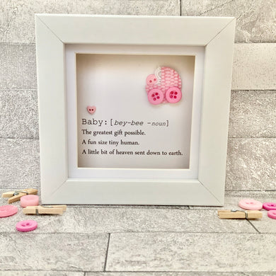 New Baby Girl Definition Mini Frame