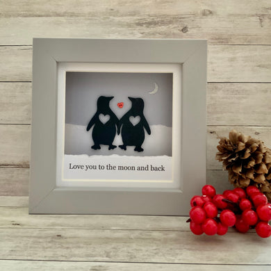Penguin Moon & Back Mini Frame