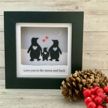 Load image into Gallery viewer, Penguin Moon & Back Family Mini Frame