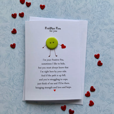 Positive Pea Card