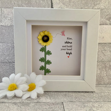 Rise, Shine & Hold Your Head High Mini Frame
