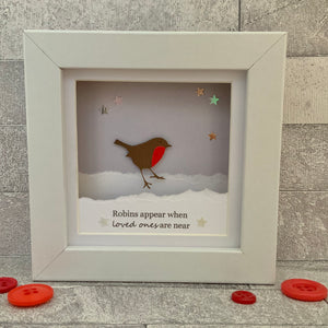 Robins Appear Snow Mini Frame