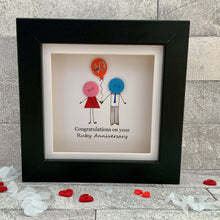 Load image into Gallery viewer, Ruby Wedding Anniversary Mini Frame