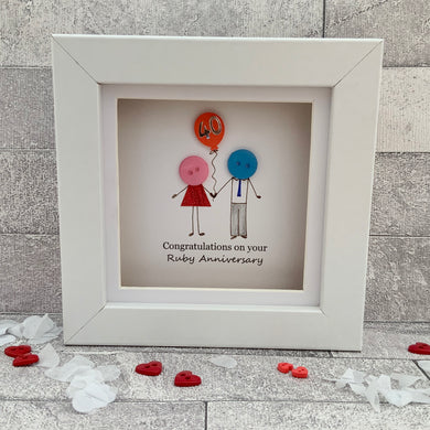 Ruby Wedding Anniversary Mini Frame