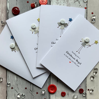 Sending You A Christmas Angel Pack of Four Christmas Cards