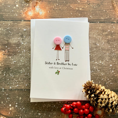 Sister & Brother In Law With Love At Christmas Card