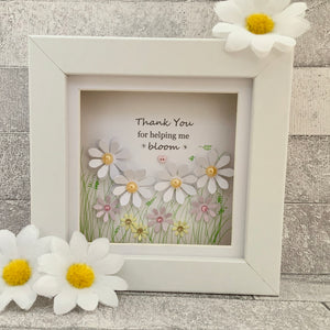 Thank You For Helping Me Bloom Mini Frame