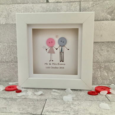 Personalised Wedding Day Mini Frame