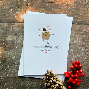 A Christmas Hedge-Hug Card