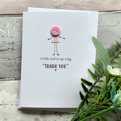 A Little Card To Say A Big Thank You