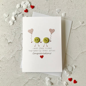 And they lived hap-pea-ly ever after Card