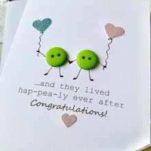 Load image into Gallery viewer, And they lived hap-pea-ly ever after Card