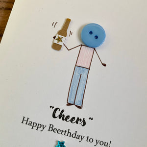 Cheers Happy Beerthday To You Card