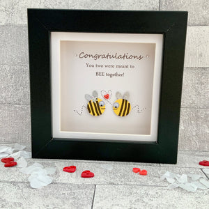 Congratulations You Two Were Meant To Bee Together Mini Frame