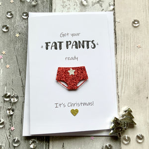 Get Your Fat Pants Ready Pack of Four Christmas Cards