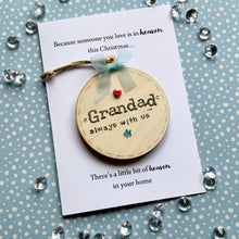 Load image into Gallery viewer, Wooden Bauble Personalised Card