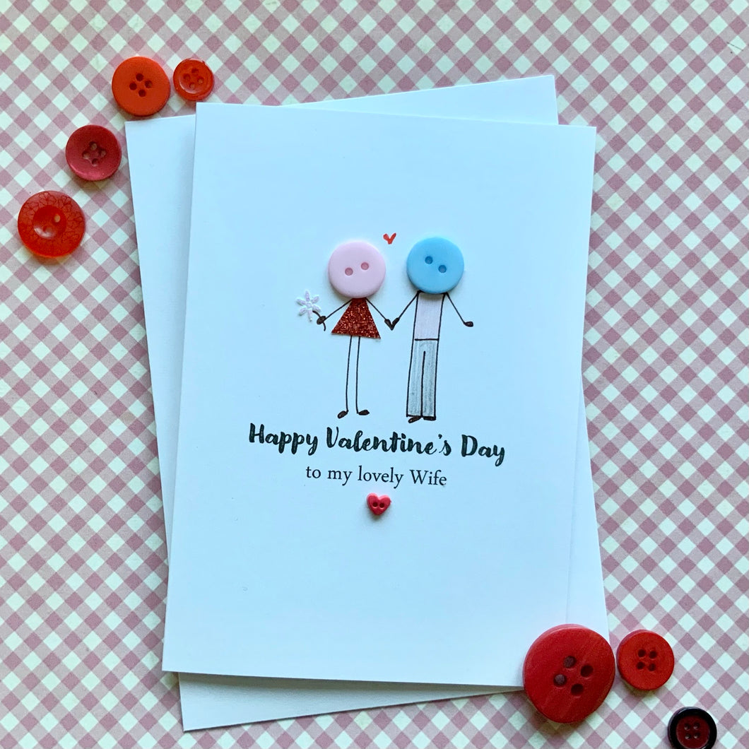 Happy Valentine's Day Lovely Wife Card