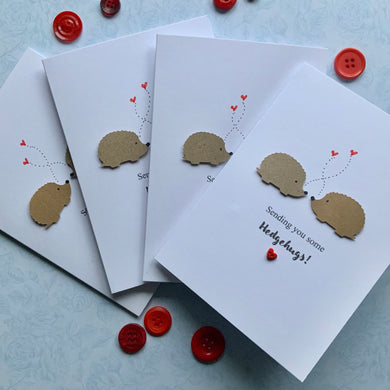 Sending You Hedgehugs Pack of Four Cards