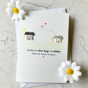 Sending You Love, Hugs And Wishes Card - Personalised