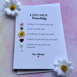Little card of Friendship (Post Lockdown)- Personalised