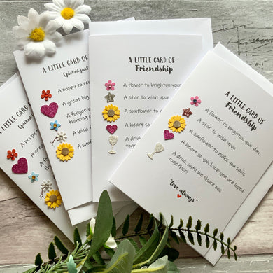Little Cards Of Friendship & Loveliness Pack of Four Cards