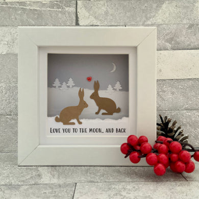 Love You To The Moon & Back Snow Mini Frame