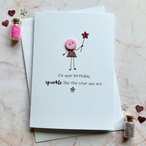 On your Birthday Sparkle- Personalised