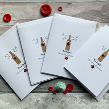 Load image into Gallery viewer, Reinbeer Pack of Four Christmas Cards